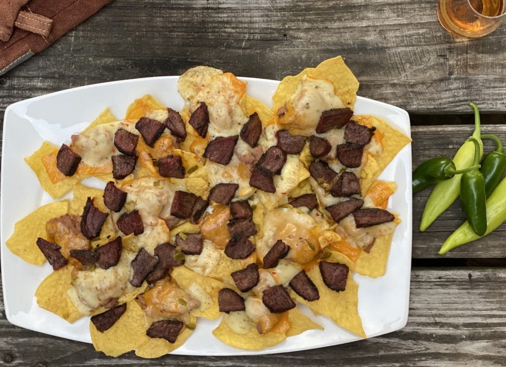 Smoked Nachos on the plate