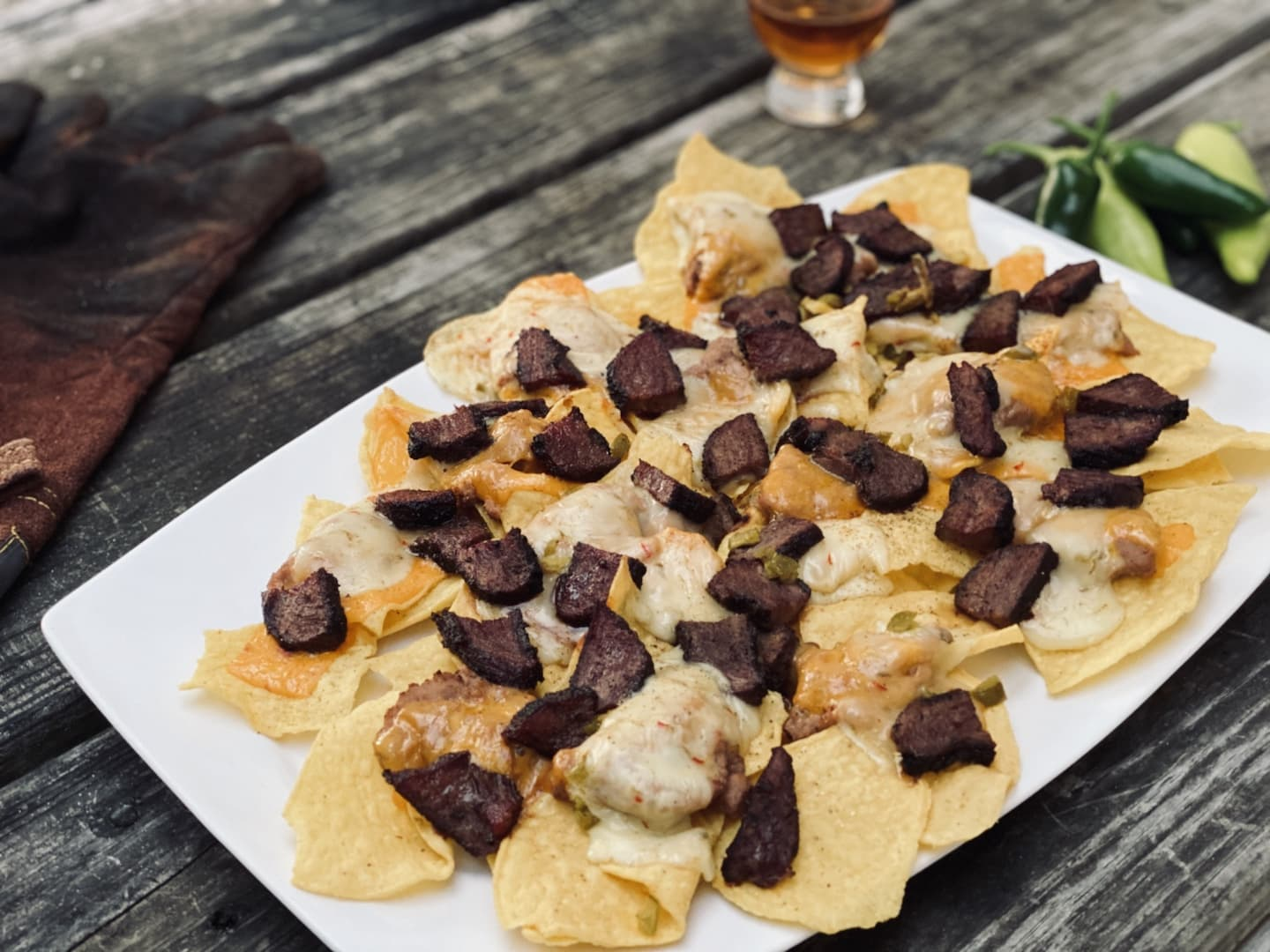 Smoked Nachos plated